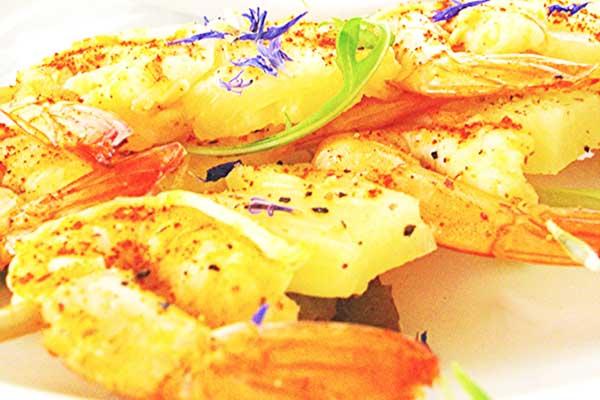 Brochettes de crevettes, par Cuisine-at-home, Cours de cuisine Saint-Germain-en-Laye Cours de cuisine Yvelines